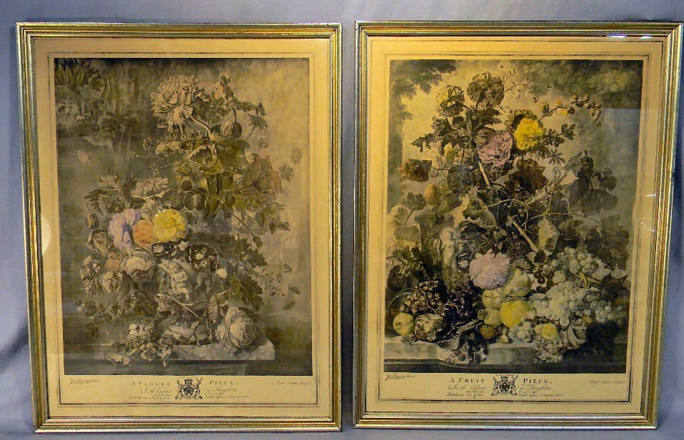 "2Y: Pair of prints ""A Flower Piece"" and ""A Fruit Piece"""