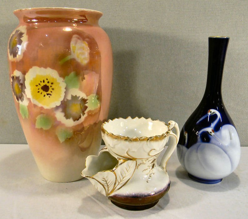 "Lot including Royal Winton Grimwades 10"" vase with some"