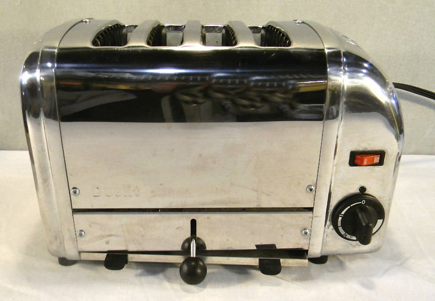 Estate Dualit four slice toaster, stainless, used
