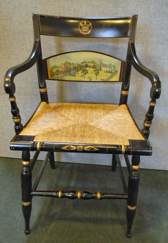 Trinity College, Hartford, Ct. Hitchcock arm chair, ver