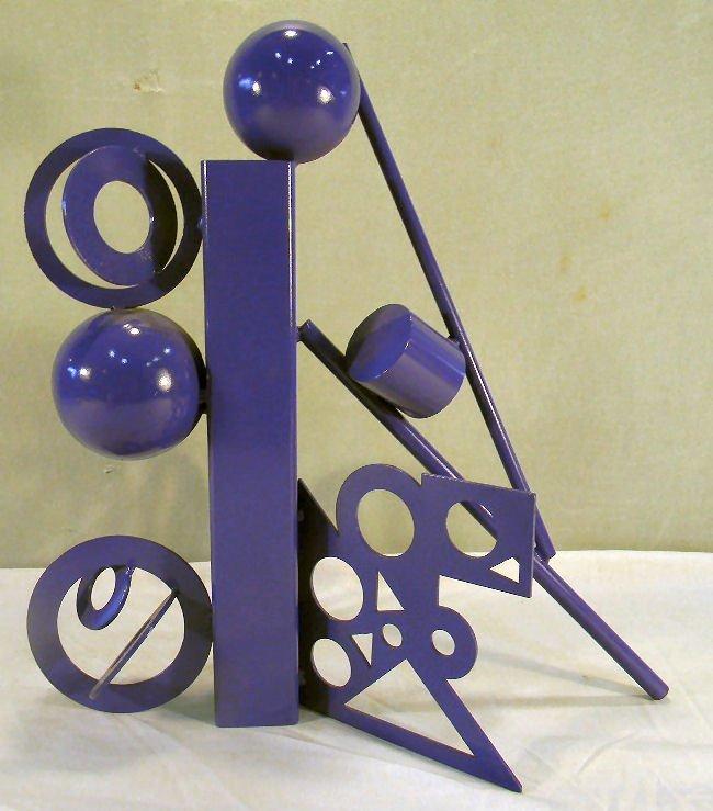 Cheryl Farber Smith modern steel sculpture, original pa