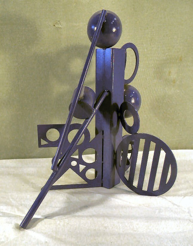 Cheryl Farber Smith modern steel sculpture, original pa - 2