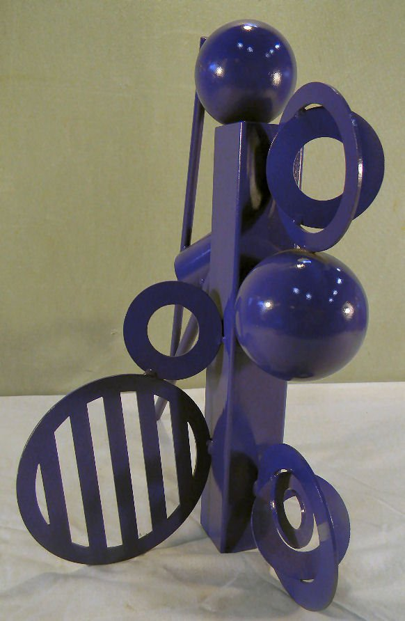Cheryl Farber Smith modern steel sculpture, original pa - 3