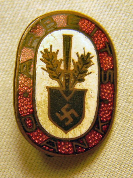 Lot including WWII Nazi death head patches, enameled pi - 5