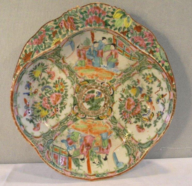 """Antique Rose Medallion bowl, 10.5"""" X 9.75"""", no chips or"""