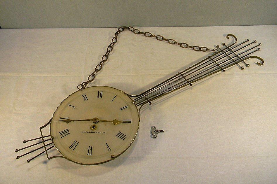 Modern styled Josiah Wentworth & Sons, Ltd. Banjo clock