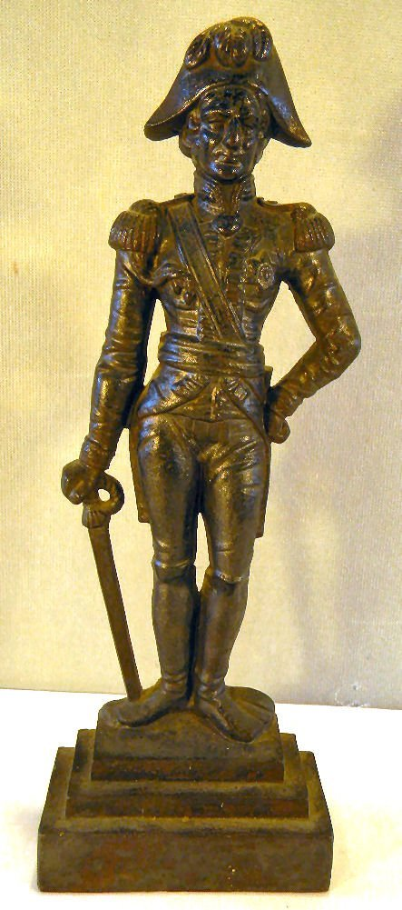 English cast iron figural doorstop of Lord Nelson, 16.2