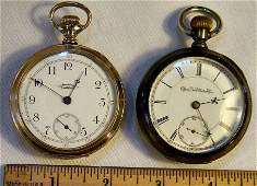 Two pocket watches in running order, American Waltham 1