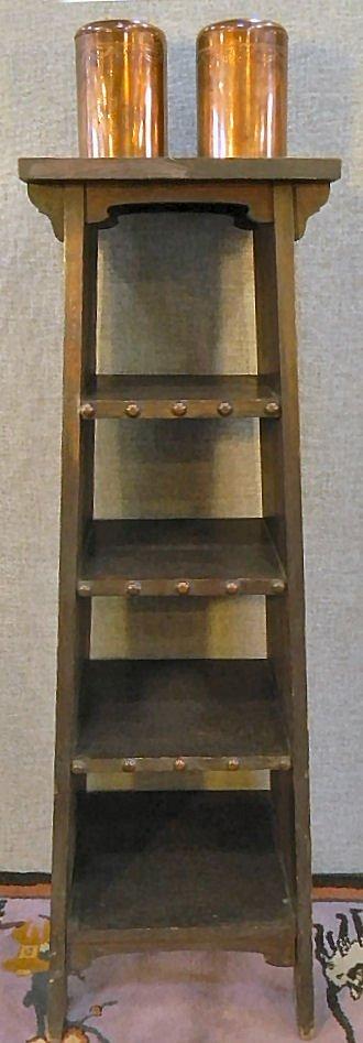 Gustav Stickley Chalet Magazine Cabinet with original f