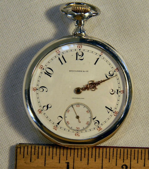 Patek Philippe pocket watch with Fahey sterling silver