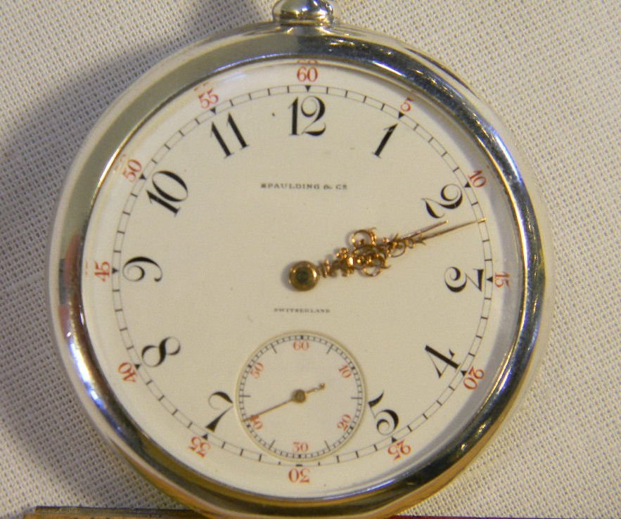 Patek Philippe pocket watch with Fahey sterling silver  - 2