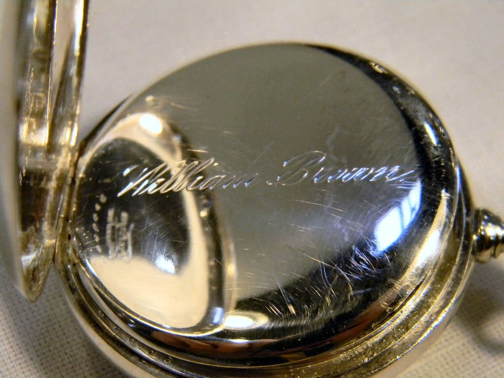 Patek Philippe pocket watch with Fahey sterling silver  - 4