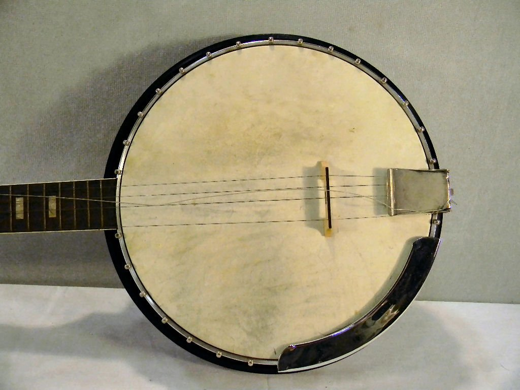 Harmony five string Roy Smeck banjo, mother of pearl in - 2