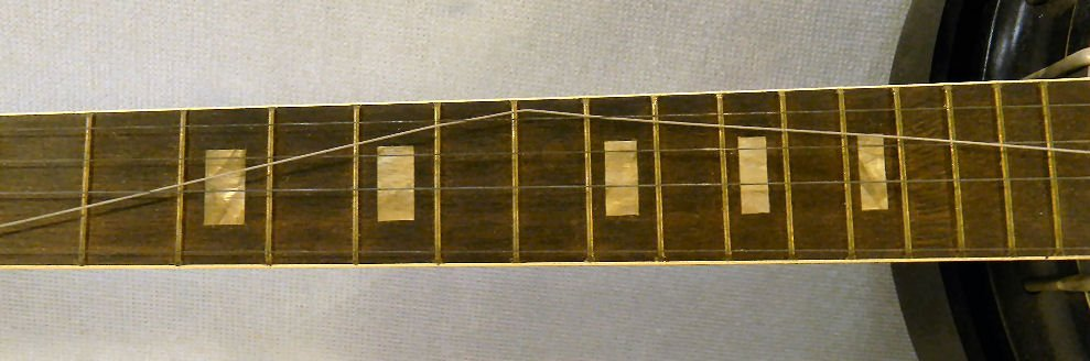 Harmony five string Roy Smeck banjo, mother of pearl in - 3