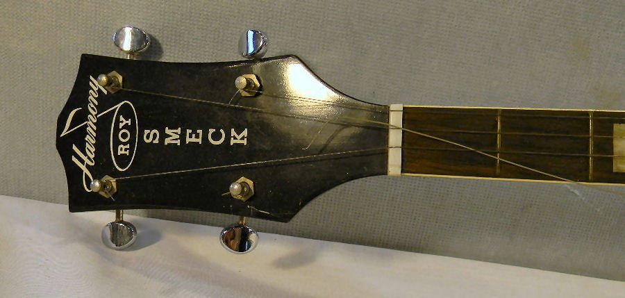 Harmony five string Roy Smeck banjo, mother of pearl in - 4