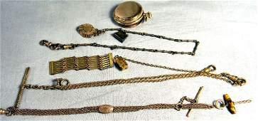 Lot including gold filled 7 jewel Elgin pocket watch