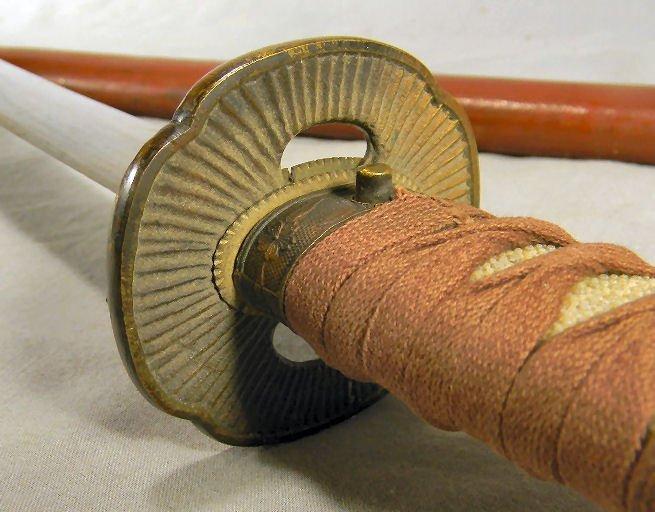 Japanese katana samurai sword, no visible markings, - 3