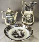"""Lot of mulberry ironstone china including 12"""" Athens"""