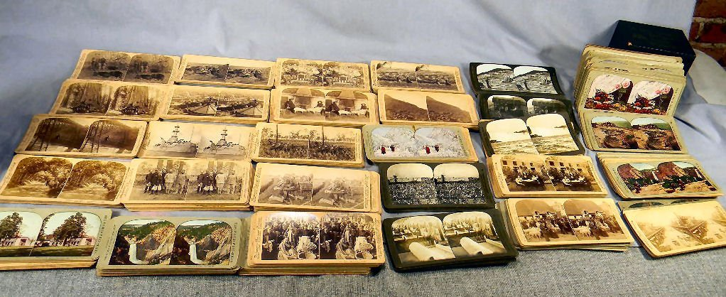 Lot of misc. stereo card views, including U.S. and
