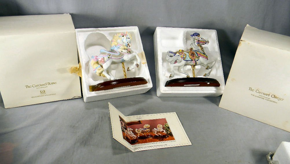 Lenox Carousel Horse and Charger, each in excellent