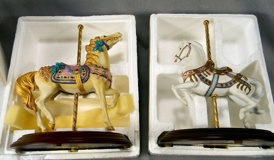 Franklin Mint Carousel Horse Golden Stargazer and