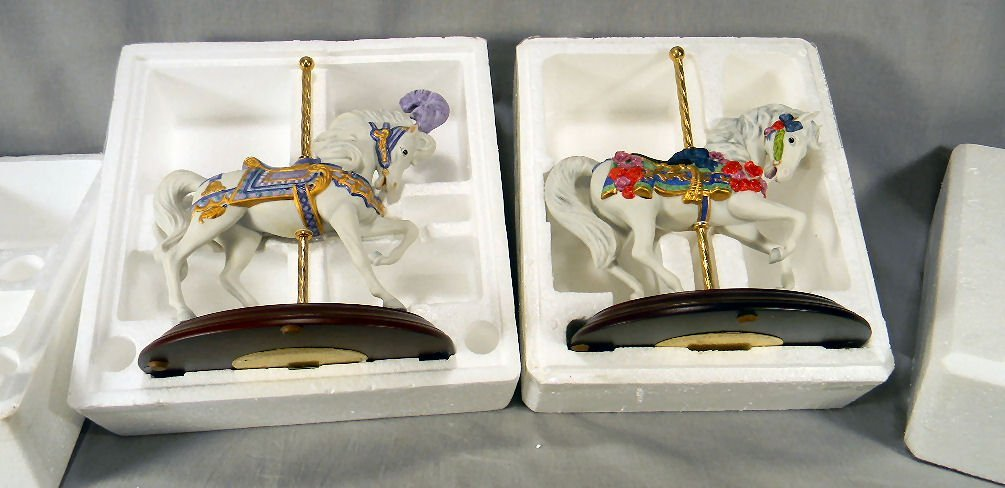 Franklin Mint Carousel Horse Majesty and Enchantment,