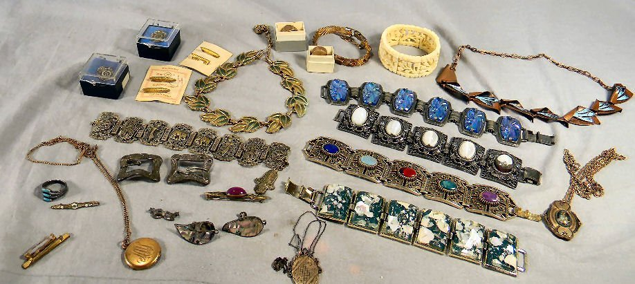 Lot of misc. gold filled and costume jewelry, some