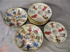 Lot of Asian porcelain including 12
