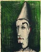 BERNARD BUFFET: Le Clown au Fond vert.