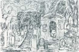 HANS PURRMANN: Brunnen und Treppe in Levanto (I).