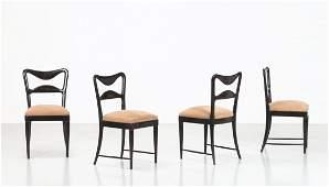 Mahogany dining chairs by Osvaldo Borsani, 1940, set of