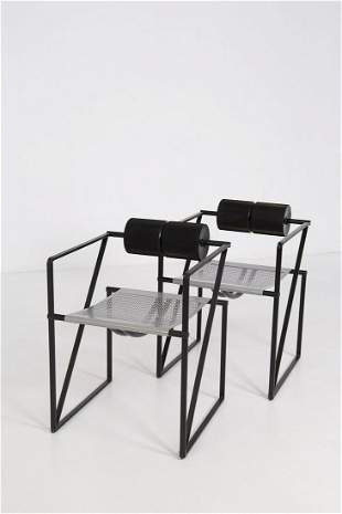 Pair of Seconda Chairs 602 by Mario Botta for Alias