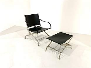 A. Citterio Chaise Lounge and Pouf for Flexform, 70s