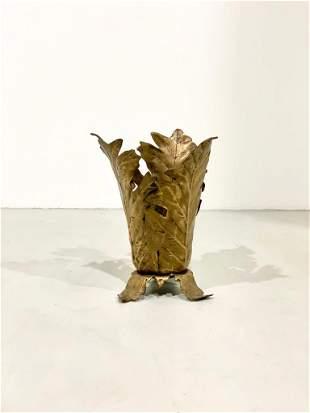 Gabriella Crespi (attr.) Bronze Umbrella Stand, 1970s