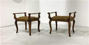 Pair of stools, 1930s