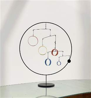 In the Style of Alexander Calder Kinetic Mobile