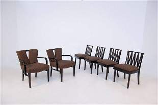 Set of Six Chairs by Paul Frankl for Johnson Furniture