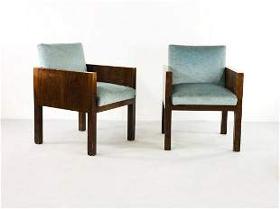 Pair of Armchairs Attr. to Franco Albini 1940s