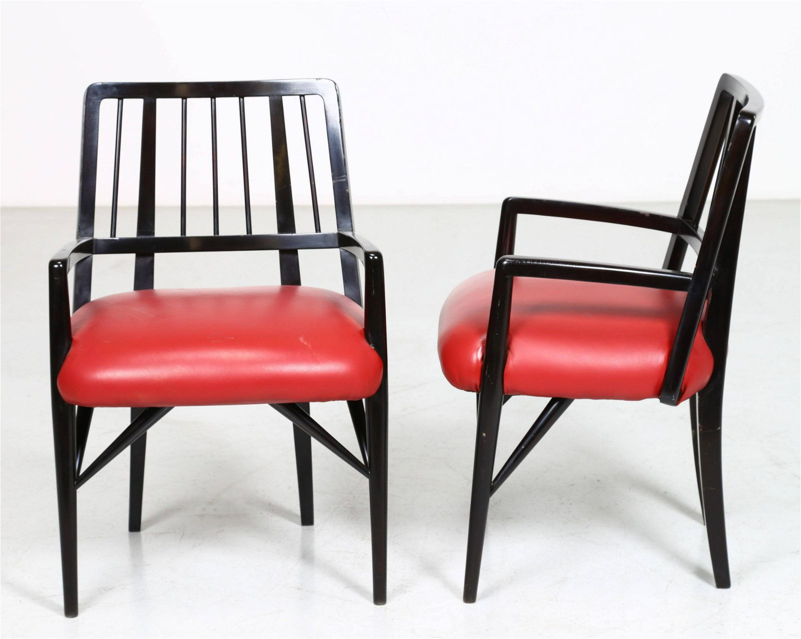 Italian Chairs by Paul László Lacquered Wood 1950s