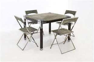 Game Table by Romeo Rega in Green Alcantara Signature
