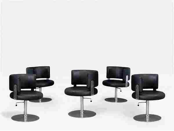 Five Chair by Formanova in in Leather Black 1970