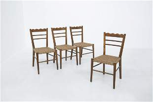Four chair By Paolo Buffa 1950s