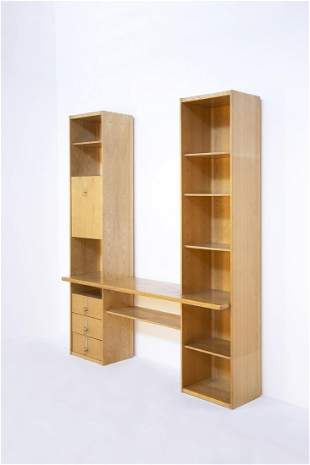 Vittorio Introini Bookcase and desk Mod Pellican, 1970s