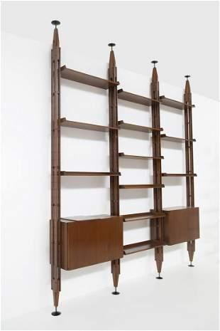 Bookcase Franco Albini for Poggi, signed. 1950s