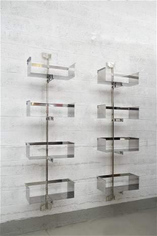 Pair Of Vittorio Introini Bookcase Mod P700, Saporiti
