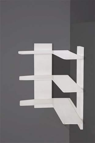 Suspended wooden bookcase Attr. a G. Ponti