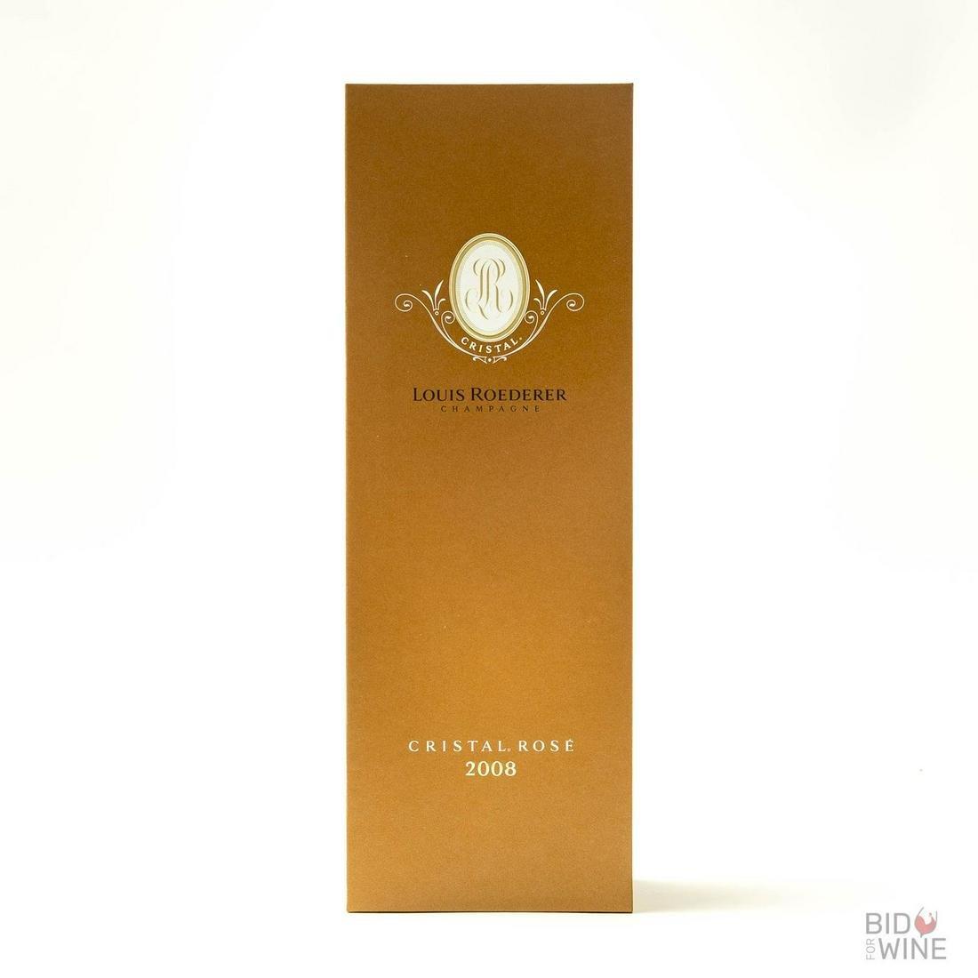 2008 Cristal Rose, Louis Roederer, 3 bottles of 75cl