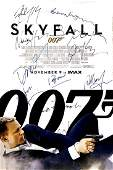 Signed Skyfall 007 Movie Poster