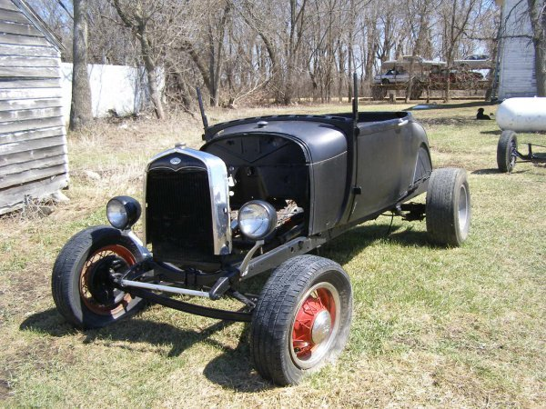 2A: 1929 Ford Model A Roadster Rolling Body