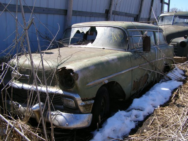 13A: 1956 Chevrolet 4dr Post Wagon